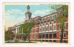 Hospital St Vincent de Paul, Norfolk, Virginia, PU-1926