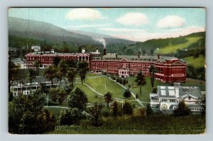 Hot Springs VA-Virginia Homestead Hotel Bath House, Advertising Vintage Postcard