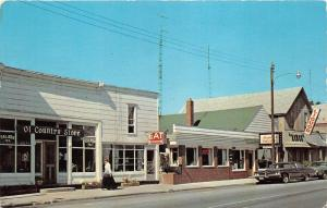 Honor Michigan~Money's Coffee Shop~Ol' Country Store~1960s Postcard
