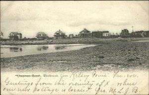 Westbrook CT Chapman Beach Homes c1905 Postcard