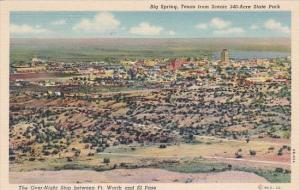 Big Spring Texas From Scenic 340 Acre State Park Big Springs Texas