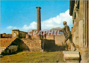 Postcard Modern Pompeii Excavations Temple of Apollo