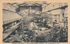 Florida St Petersburg The Garden Cafeteria 1955 Curteich