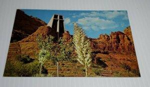 Vintage Postcard Chapel of the Holy Cross Sedona Arizona Brunswig memorial 1986