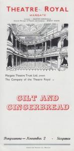 Gilt And Gingerbread Lionel Hale Rare Theatre Royal Margate Kent Programme