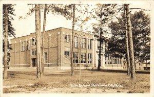 H35/ Mackinaw City Michigan RPPC Postcard c1940s High School Building  57