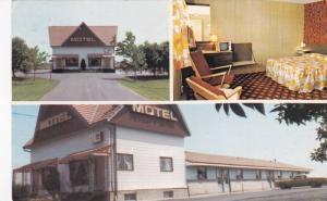 3-Views, Motel Marieville Engr., Marieville, Quebec, Canada, 1940-1960s