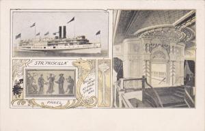 1900-1910´s; Steamer Priscilla, Panel, Bulkhead At Main Stairway