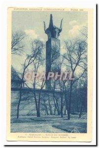 Madagascar Old Postcard Alorlo bucrania Colonial Exhibition of Paris in 1931 ...