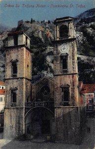 Montenegro Kotor Crkva Sv Trifuna Church postcard