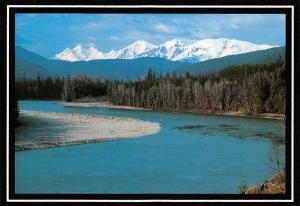Canada Skeena River, HWY 16 West River Mountain Forest Landscape