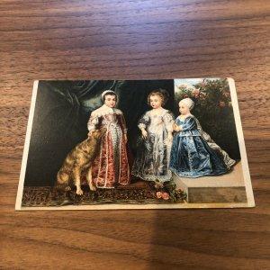VINTAGE - Postcard - ROYALTY - I Figli di Carlo I ENGLAND DOG CHILDREN  Van Dyck