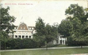 1910 Highland ILLINOIS Moraine Hotel postcard 4667 roadside