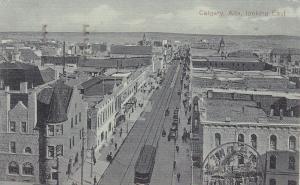 Looking East , CALGARY, BANFF , Alberta , Canada , PU-1913