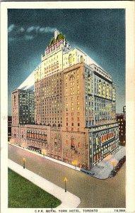 C.P.R. Royal York Hotel Toronto Canada Postcard Standard View Card