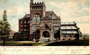 Pennsylvania Philadelphia The Library University Of Pennsylvania 1906