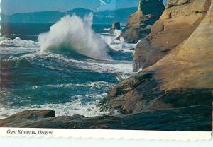Cape Kiwanda Oregon Coast Waves Surf Cliffs Shore Breakers  Postcard  # 8102