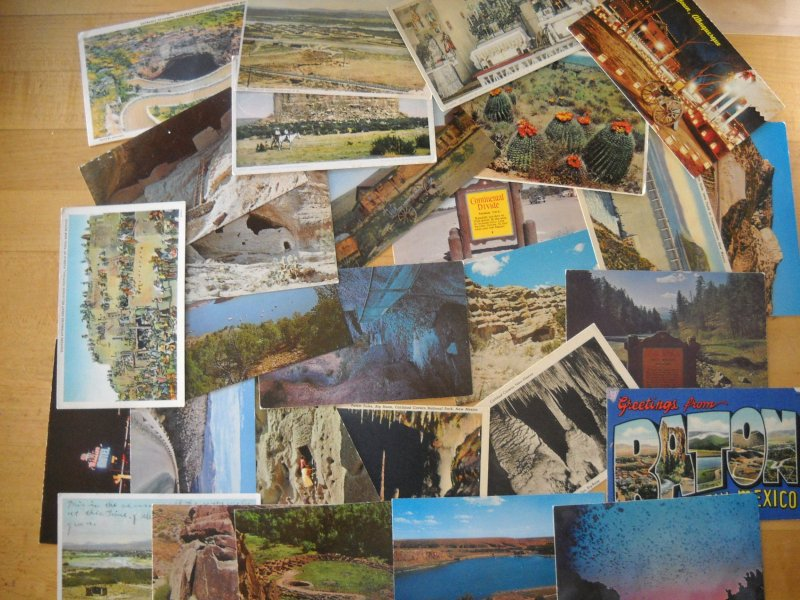 28 NEW MEXICO postcards 1920s to 1980s / linen - chrome NUMEROUS LOCATIONS