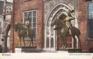 BREMEN, Bremen, Germany, 1900-1910's; Historische Reiter Am Rathaus