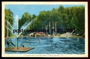 2081 - SAULT STE. MARIE Ontario Postcard 1930s Hiawatha Park by PECO