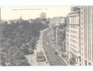Unused Divided-Back SHOPS ALONG TREMONT STREET Boston Massachusetts MA hp2318