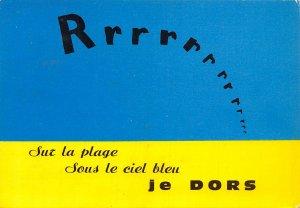 France Sur la Plage Sous le Ciel Bleu Je Dors Postcard