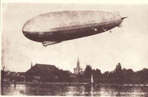 Luftschiff, Graf Zeppelin, Konstanz, NEW REPRODUCTION unused Postcard