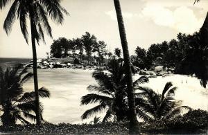 seychelles, MAHE, Carana Beach (1950s) RPPC