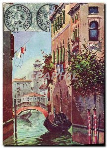 Old Postcard Fancy Venice