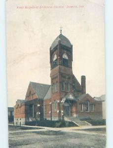 Divided-Back CHURCH SCENE Dunkirk - Near Bluffton & Muncie Indiana IN G4358