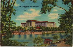 1947 Philadelphia PA The Art Museum Pennsylvania Antique Old Linen Era Postcard