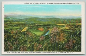 Hagerstown Maryland~National Highway Polish Mountain~1920s Postcard