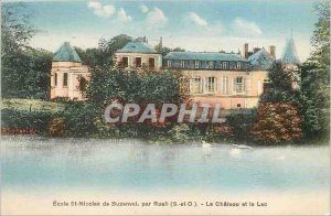 Old Postcard The Ch�teau and Lake - St. Nicolas School Buzenval