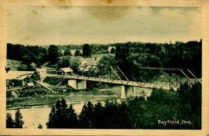 Canada - Ontario, Bayfield. Bridge and Mill