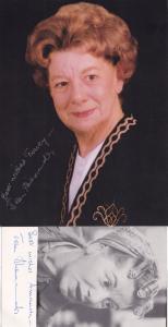 Jean Alexander Hilda Ogden 2x Giant & Cast Hand Signed Photo