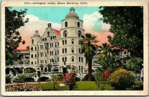 1920s Santa Barbara, California Postcard ARLINGTON HOTEL Building View Kashower