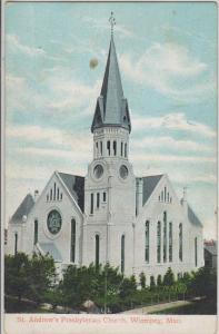 WINNIPEG Manitoba CANADA - ST ANDREWS PRESBYTERIAN CHURCH 1910s era / DEMOLISHED