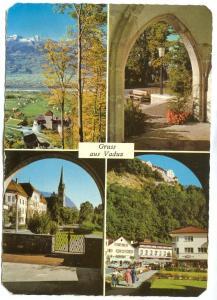 Liechtenstein, Gruss aus Vaduz, 1959 used Postcard