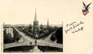 DC - Washington. Thomas Circle and Lutheran Church
