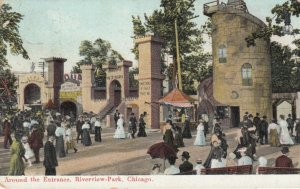 CHICAGO, Illinois, 1909 ; Riverview Park Entrance