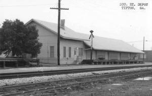 Tifton Georgia SOU RY Depot Real Photo Repro Antique Postcard J44331