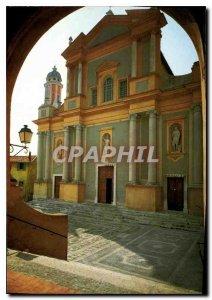 Modern Postcard Menton Alpes Maritimes Church Saint Michel XVII