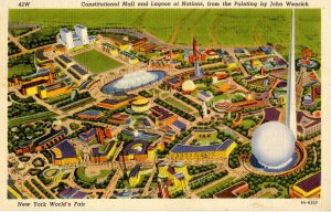 NY - New York World's Fair, 1939. Constitutional Mall & Lagoon of Nations