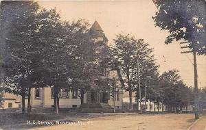 Newport ME Dirt Street View M. E. Church RPPC Real Photo Postcard