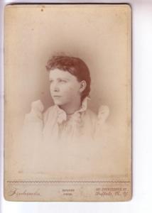 Fredricks, Vintage Portrait Woman Buffalo New York