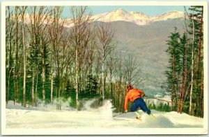 Pinkham Notch, NH Postcard Presidential Range from Kantzensteig Ski Trail 1937