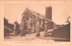 Dartmoor United Kingdom, Great Britain, England Memorial Window St Michael's ...