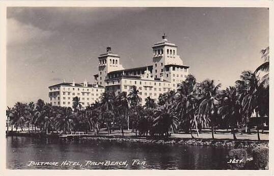 Florida Palm Beach Biltmore Hotel Real Photo RPPC