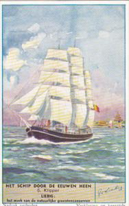 Liebig S1582 Boats Through The Ages No 6 Clipper Ship