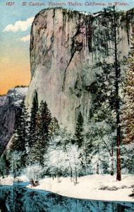 CA - Yosemite National Park. El Capitan in Winter
